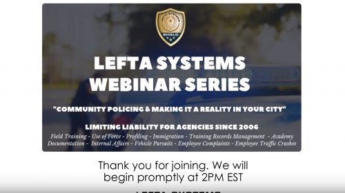 Community Policing & Making It A Reality In Your City – May 2019 Webinar Featured Image