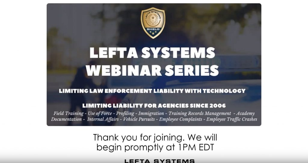 Featured Image Limiting Law Enforcement Liability with Technology – June 2019 Webinar