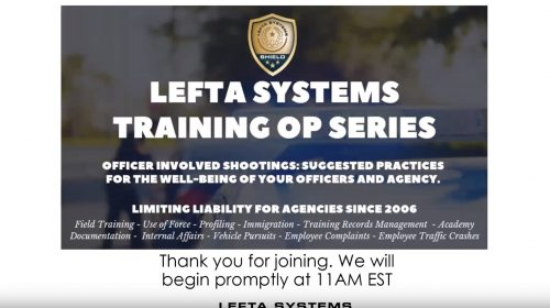 Featured Image Officer Involved Shootings: Suggested Practices for the Well-Being of Your Officers – September 2019 Training Op